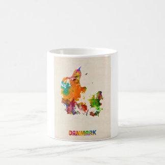 Denmark Watercolor Map Coffee Mug