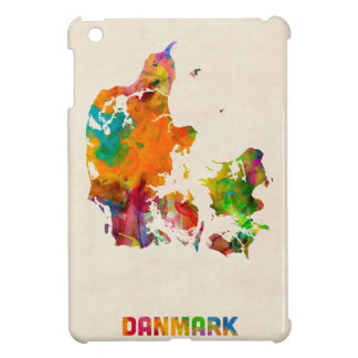 Denmark Watercolor Map iPad Mini Cover