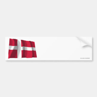Denmark Waving Flag Bumper Stickers