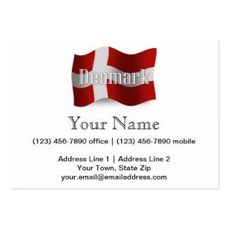 Denmark Waving Flag Business Card Templates