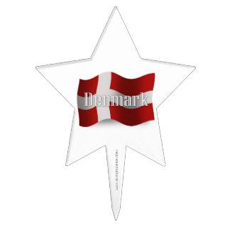 Denmark Waving Flag Cake Picks