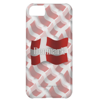 Denmark Waving Flag Case For iPhone 5C