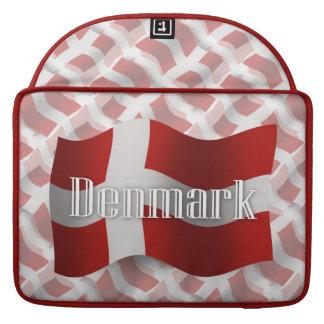 Denmark Waving Flag Sleeve For MacBooks