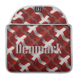 Denmark Waving Flag Sleeves For MacBook Pro