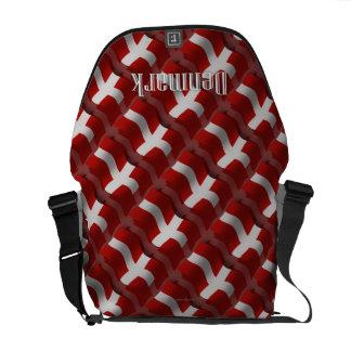 Denmark Waving Flag Messenger Bag
