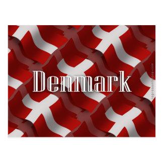 Denmark Waving Flag Postcard