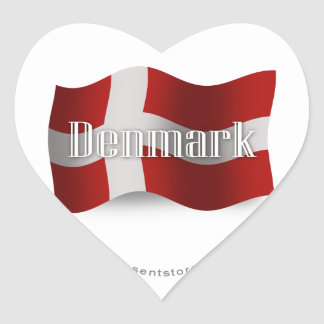 Denmark Waving Flag Stickers