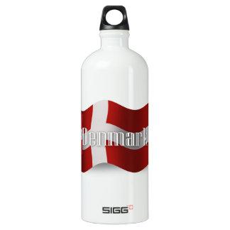 Denmark Waving Flag Water Bottle