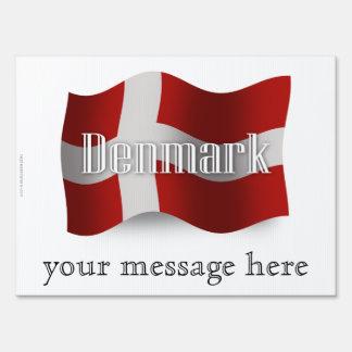 Denmark Waving Flag Lawn Signs