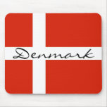 Denmark with Dannebrog Mouse Pad