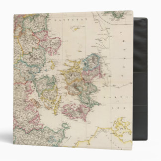 Denmark with inset map of Iceland 3 Ring Binder