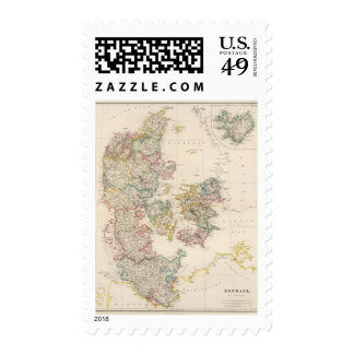 Denmark with inset map of Iceland Stamps