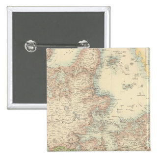 Denmark with Schleswig and Holstein 2 Inch Square Button