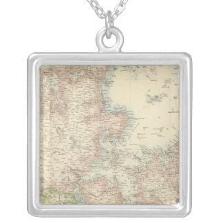 Denmark with Schleswig and Holstein Square Pendant Necklace