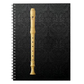 Denner High Recorder Spiral Notebook
