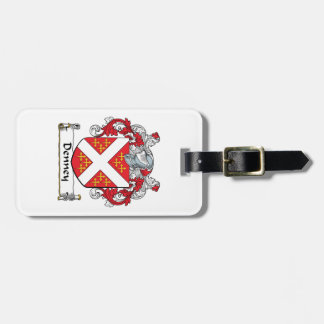 Denney Family Crest Luggage Tag