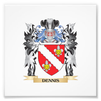 Dennis Coat of Arms - Family Crest Photo Print