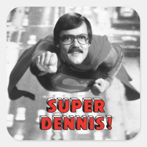 Dennis estupendo calcomanía cuadrada personalizada
