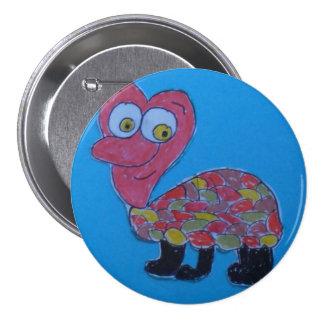 Dennis Large Round Badge Button
