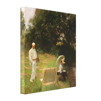 Dennis Miller Bunker Painting at Calcot by Sargent Canvas Print