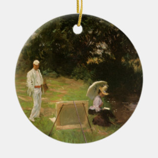 Dennis Miller Bunker Painting at Calcot by Sargent Ceramic Ornament