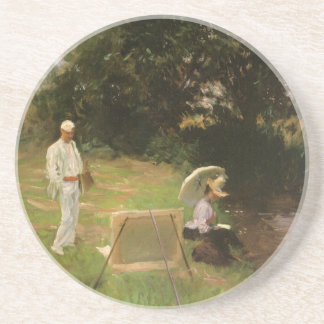 Dennis Miller Bunker Painting at Calcot by Sargent Coaster