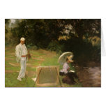 Dennis Miller Bunker Painting at Calcot by Sargent Greeting Card