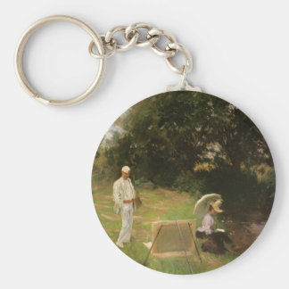 Dennis Miller Bunker Painting at Calcot by Sargent Keychain