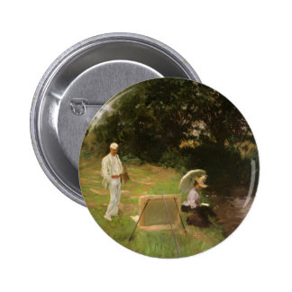 Dennis Miller Bunker Painting at Calcot by Sargent Pinback Button