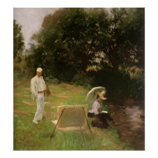 Dennis Miller Bunker Painting at Calcot by Sargent Poster