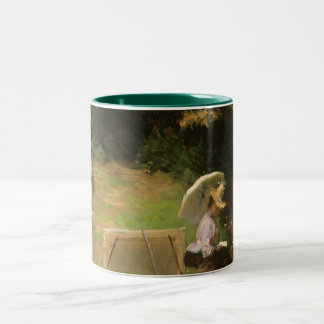 Dennis Miller Bunker Painting at Calcot by Sargent Two-Tone Coffee Mug