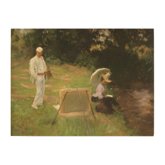 Dennis Miller Bunker Painting at Calcot by Sargent Wood Wall Art