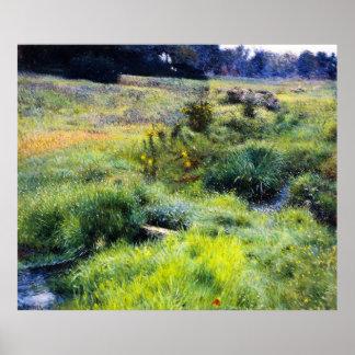 Dennis Miller Bunker's The Brook at Medfield Poster