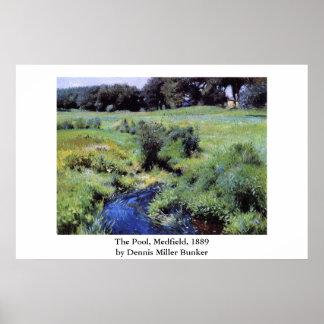 Dennis Miller Bunker's The Pool, Medfield Poster