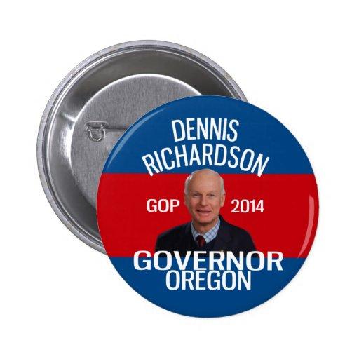 Dennis Richardson para el perno del gobernador Pin Redondo De 2 Pulgadas