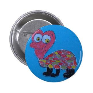 Dennis Round Badge Pinback Button