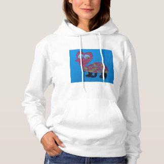 Dennis White Basic Hooded Sweatshirt