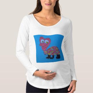Dennis White Long Sleeve Maternity T-Shirt