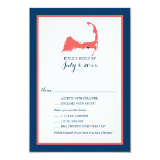 Dennisport Cape Cod | Wedding RSVP Card