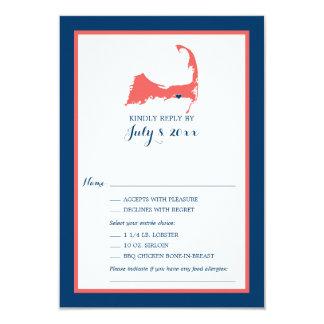 Dennisport Cape Cod   Wedding RSVP Card