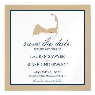 Dennisport Cape Cod Wedding Save the Date Magnetic Card
