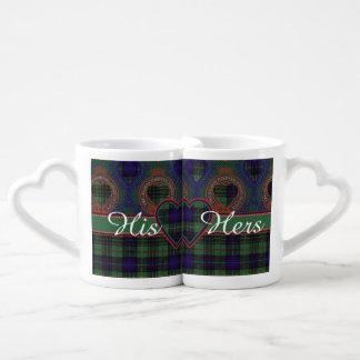 Denniston clan Plaid Scottish kilt tartan Lovers Mug Sets