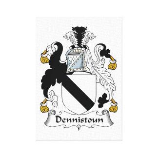 Dennistoun Family Crest Canvas Print