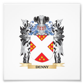 Denny- Coat of Arms - Family Crest Photo Print