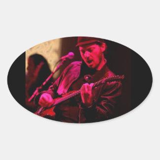 Denny DeMarchi Music Merchandise Oval Sticker