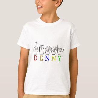 DENNY FINGERSPELLED ASL NAME SIGN T-Shirt