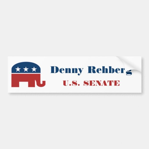 Denny Rehberg for U.S. Senate Bumper Sticker