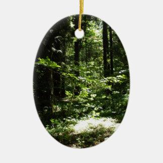 Densamente del bosque de la montaña ornaments para arbol de navidad