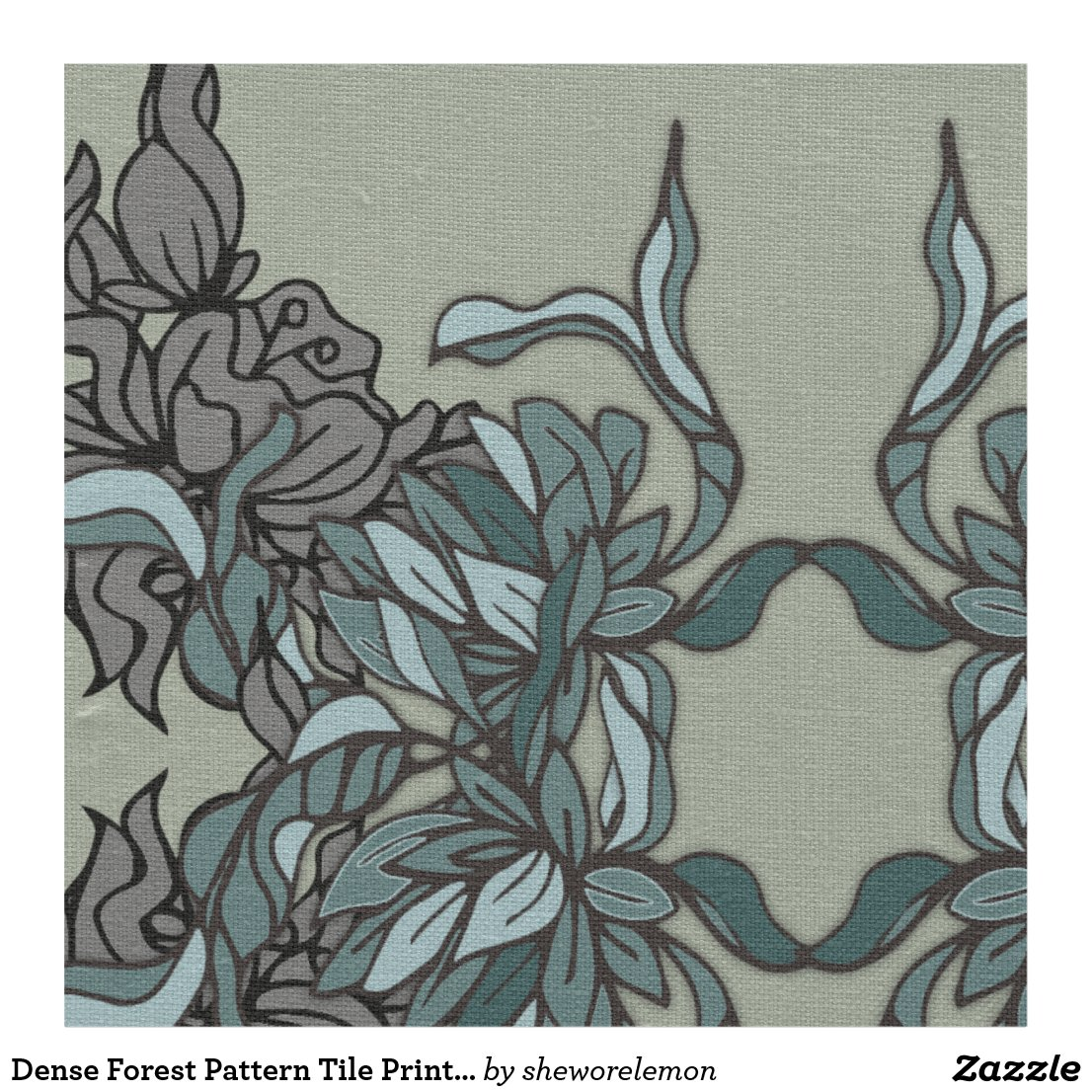 Dense Forest Pattern Tile Print Fabric