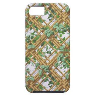 Dense ivy and trellis pattern wallpaper, 1853-1859 iPhone 5 covers